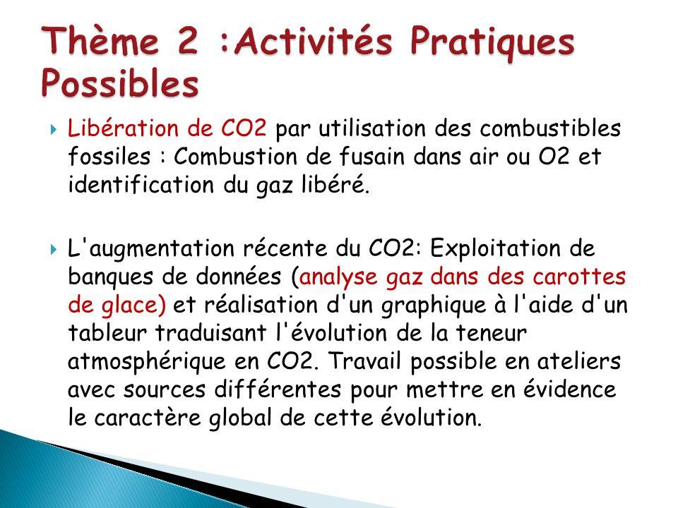 Thème 2 :Activités Pratiques Possibles