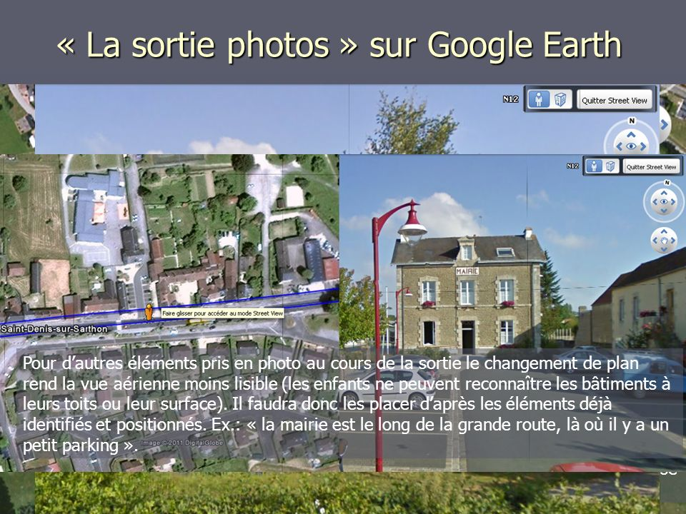 « La sortie photos » sur Google Earth