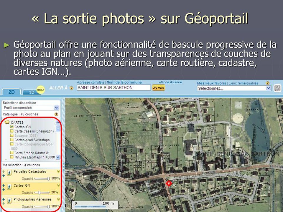 « La sortie photos » sur Géoportail