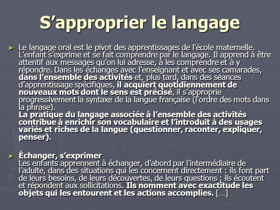 S'approprier le langage