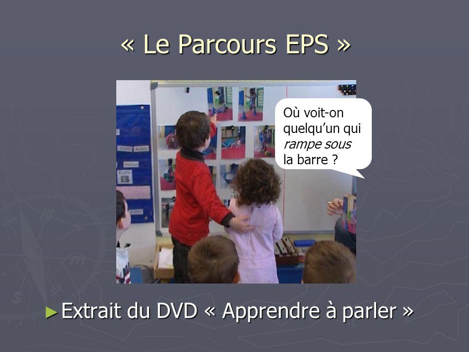 « Le Parcours EPS » Extrait du DVD « Apprendre à parler »