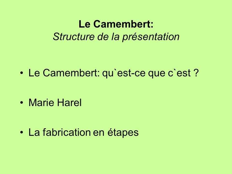 Le Camembert: Structure de la présentation