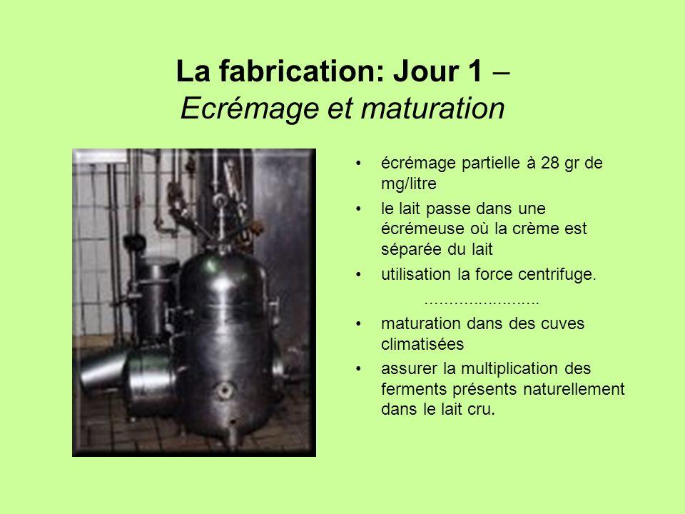 La fabrication: Jour 1 – Ecrémage et maturation