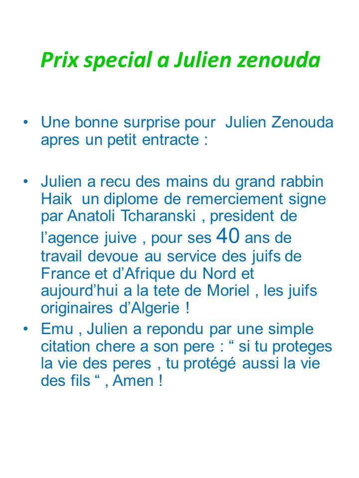 Prix special a Julien zenouda