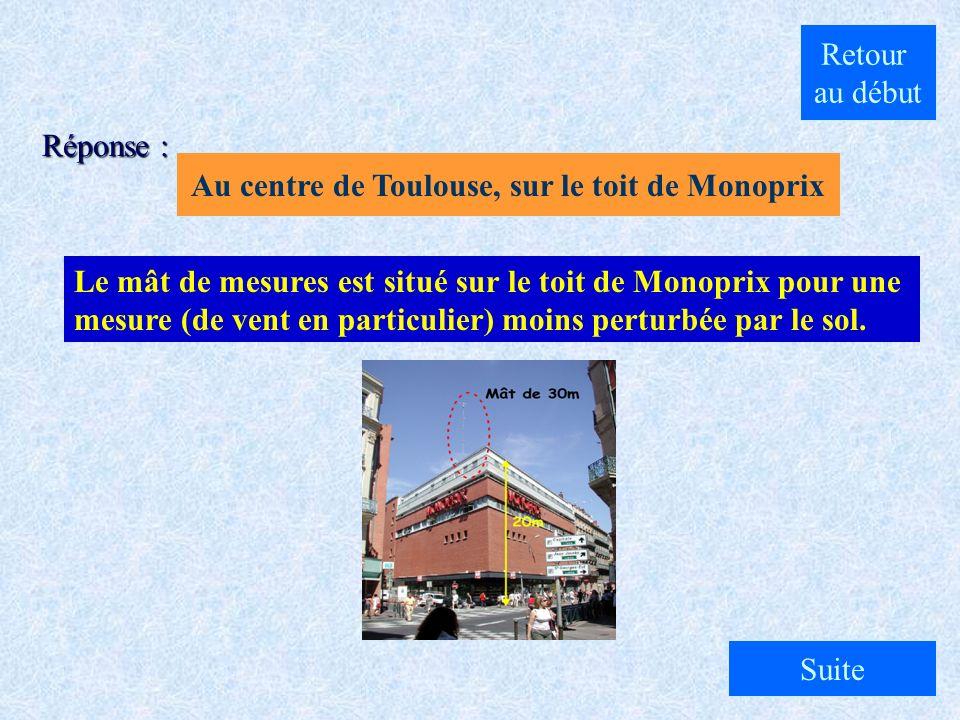 Au centre de Toulouse, sur le toit de Monoprix