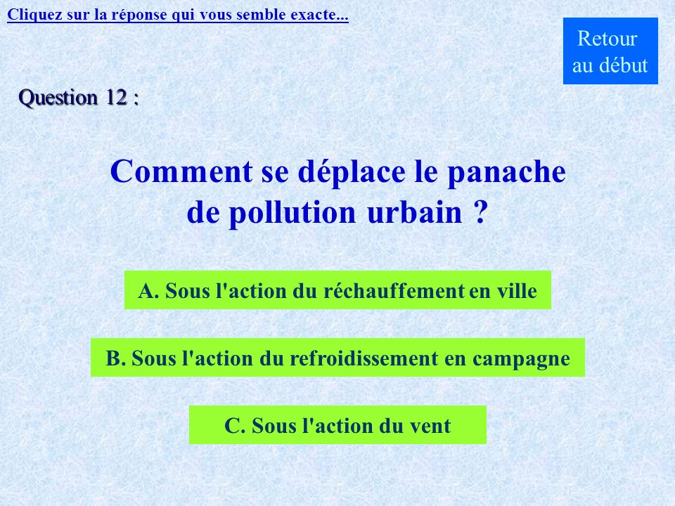Comment se déplace le panache de pollution urbain