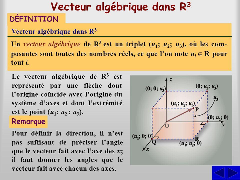 Vecteur algébrique dans R3