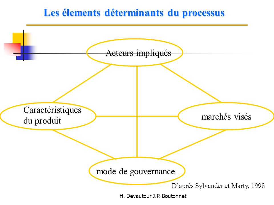 Les élements déterminants du processus