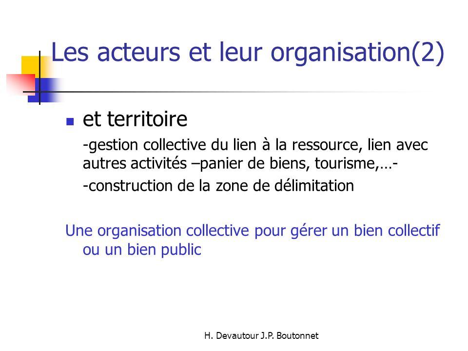 Les acteurs et leur organisation(2)