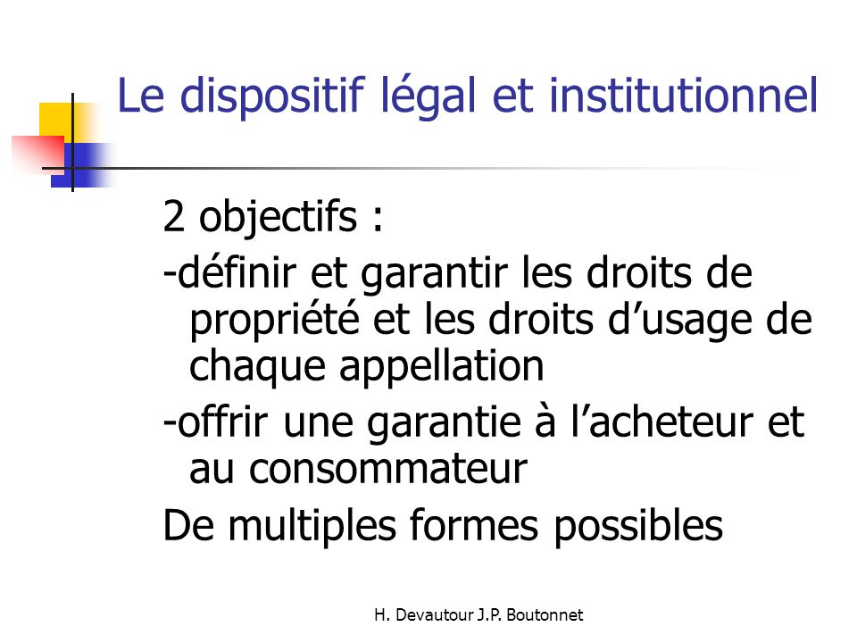 Le dispositif légal et institutionnel