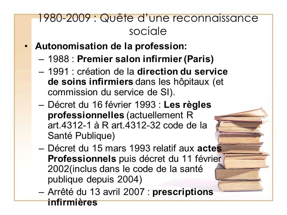 1980-2009 : Quête d'une reconnaissance sociale