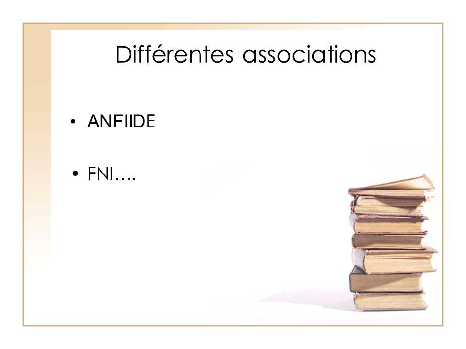 Différentes associations