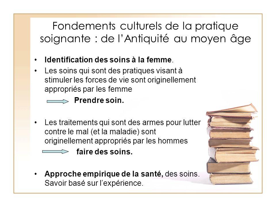 Fondements culturels de la pratique soignante : de l'Antiquité au moyen âge