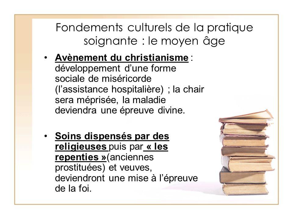 Fondements culturels de la pratique soignante : le moyen âge