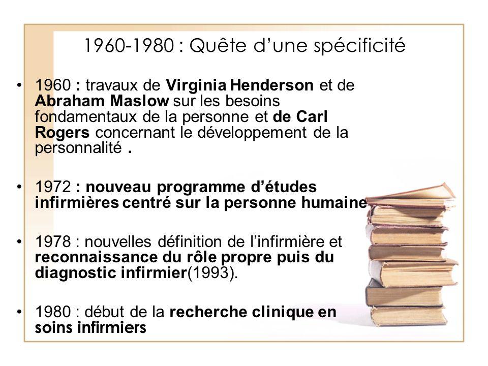1960-1980 : Quête d'une spécificité