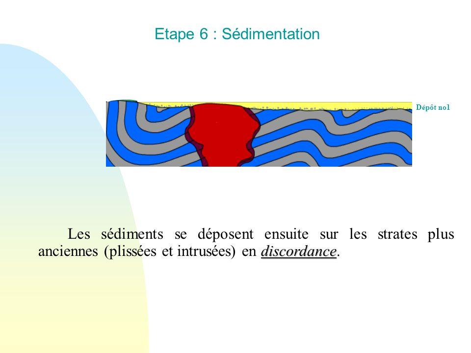 Etape 6 : Sédimentation Dépôt no1.