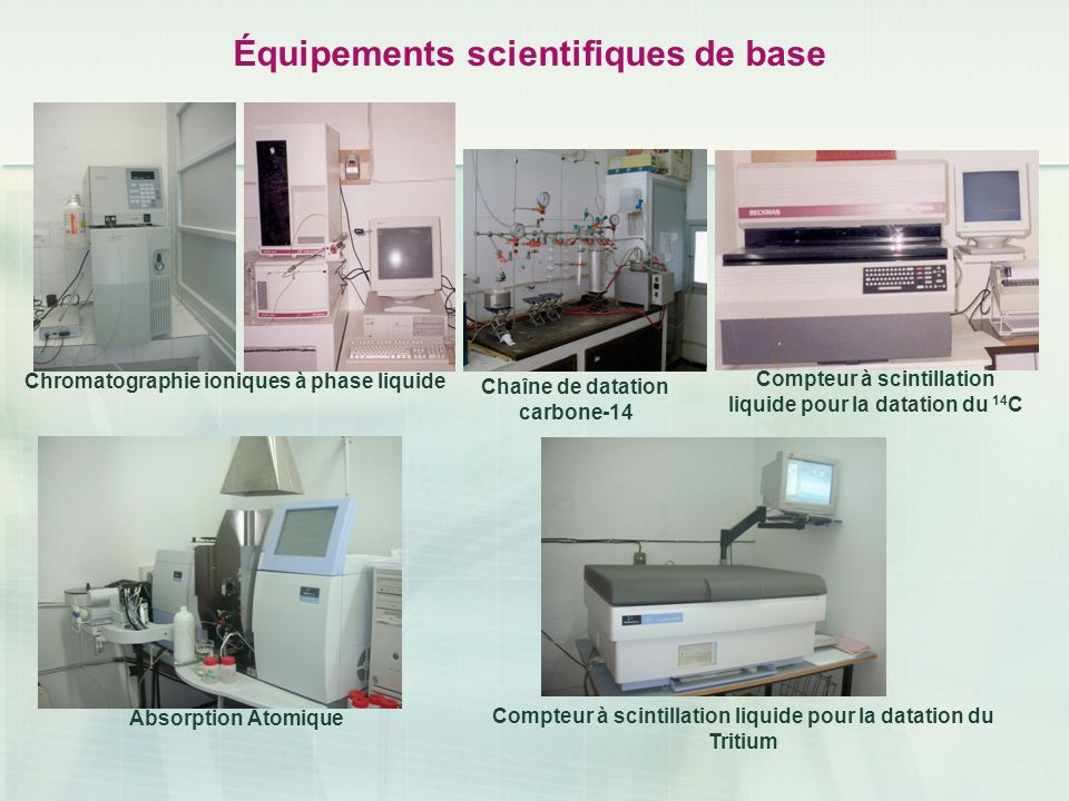 Équipements scientifiques de base