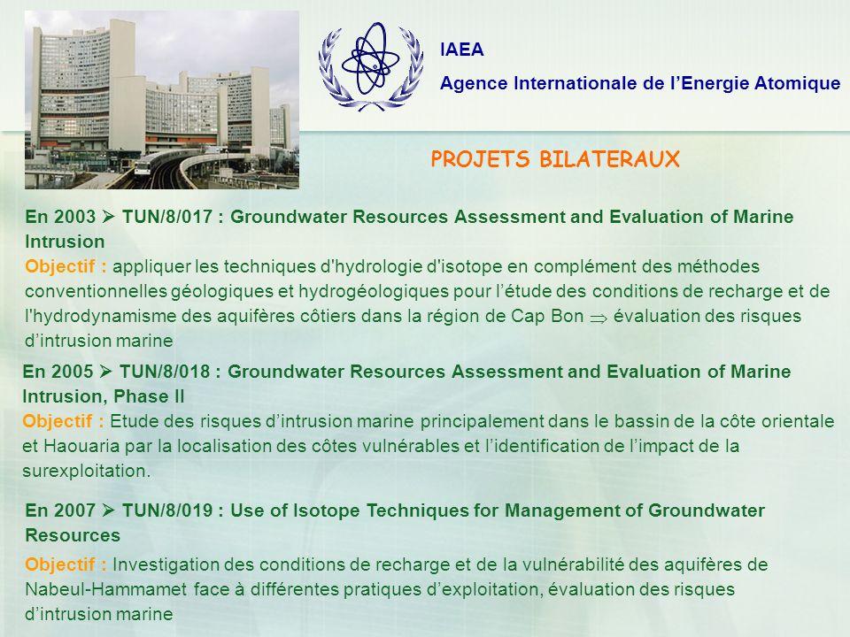 PROJETS BILATERAUX IAEA Agence Internationale de l'Energie Atomique