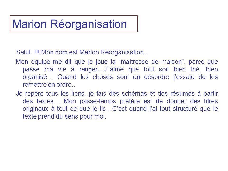 Marion Réorganisation
