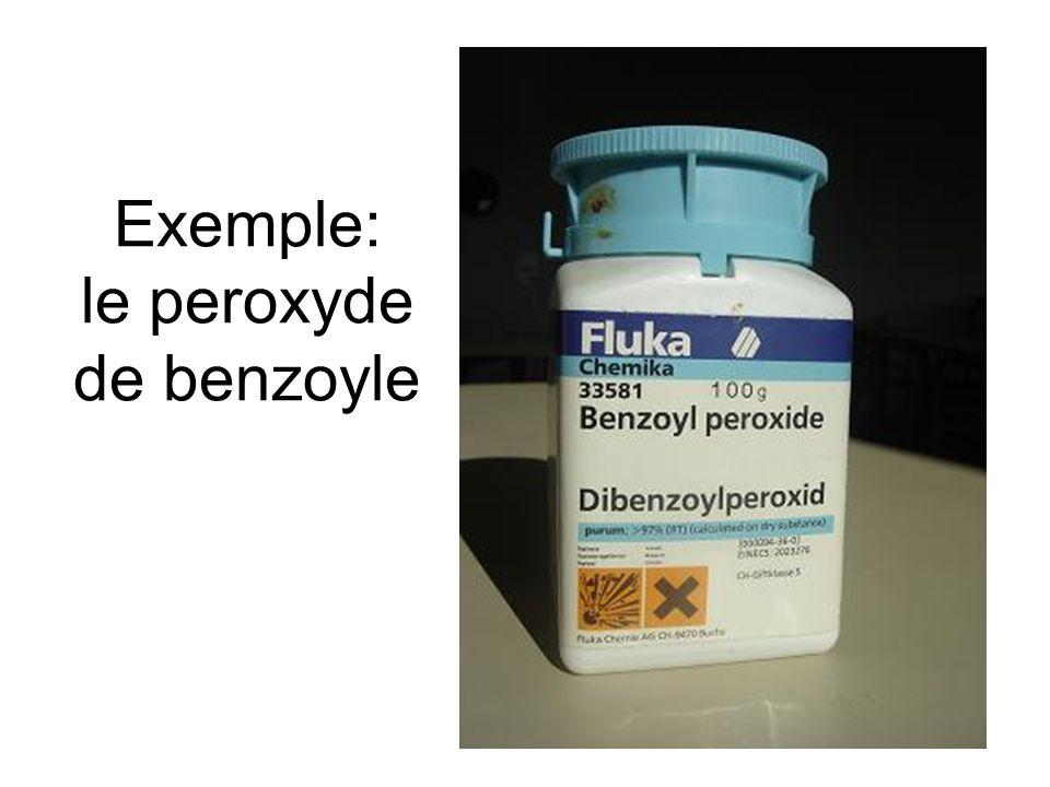 Exemple: le peroxyde de benzoyle