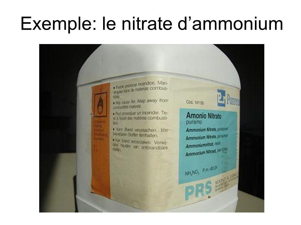 Exemple: le nitrate d'ammonium