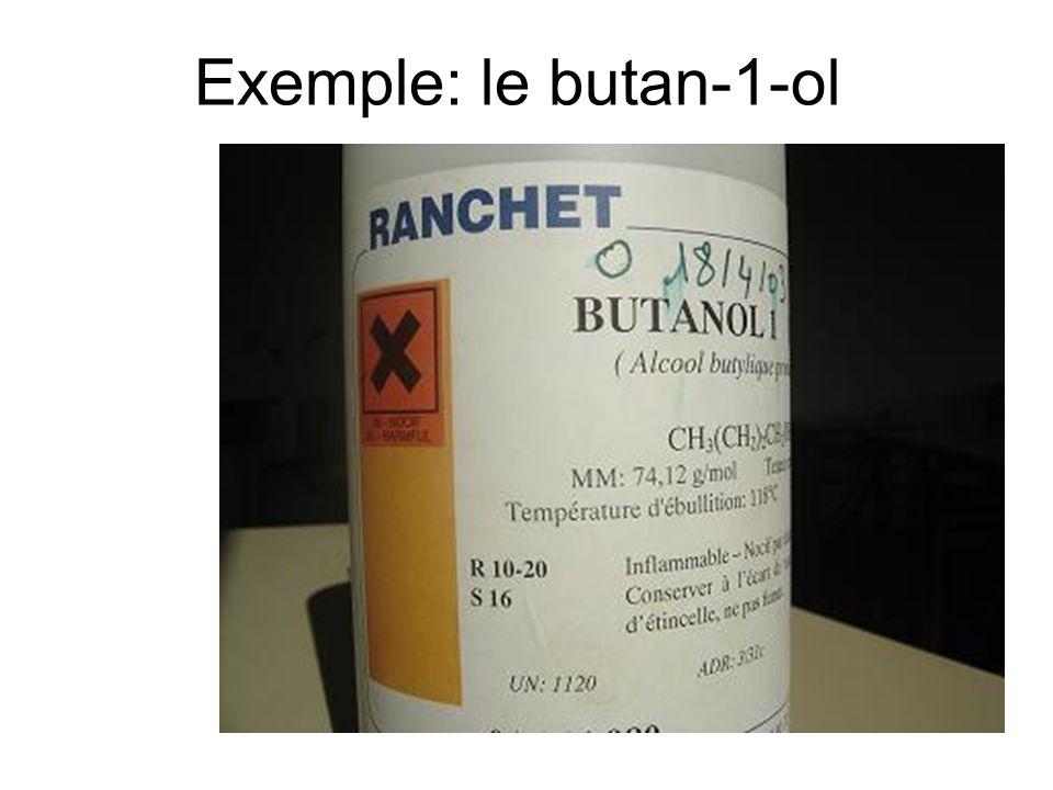 Exemple: le butan-1-ol