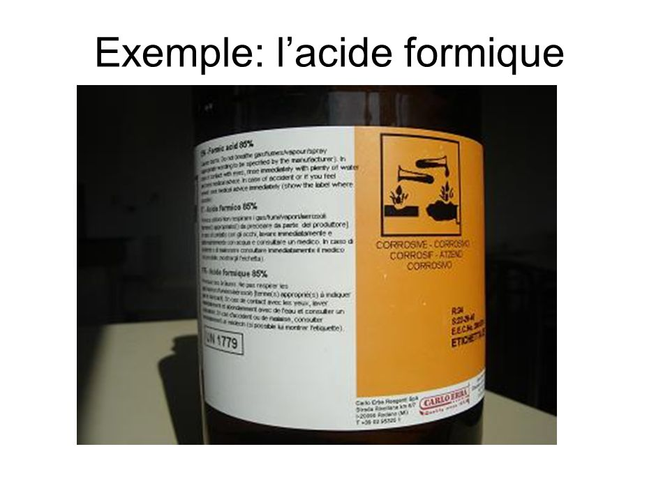 Exemple: l'acide formique