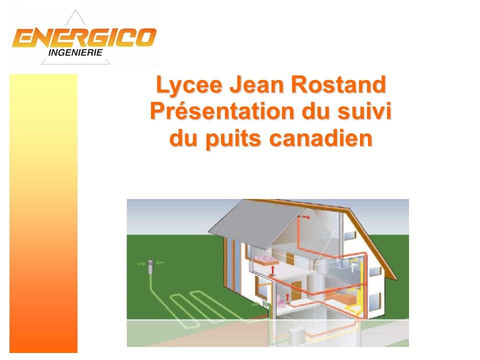 Lycee Jean Rostand Présentation du suivi du puits canadien