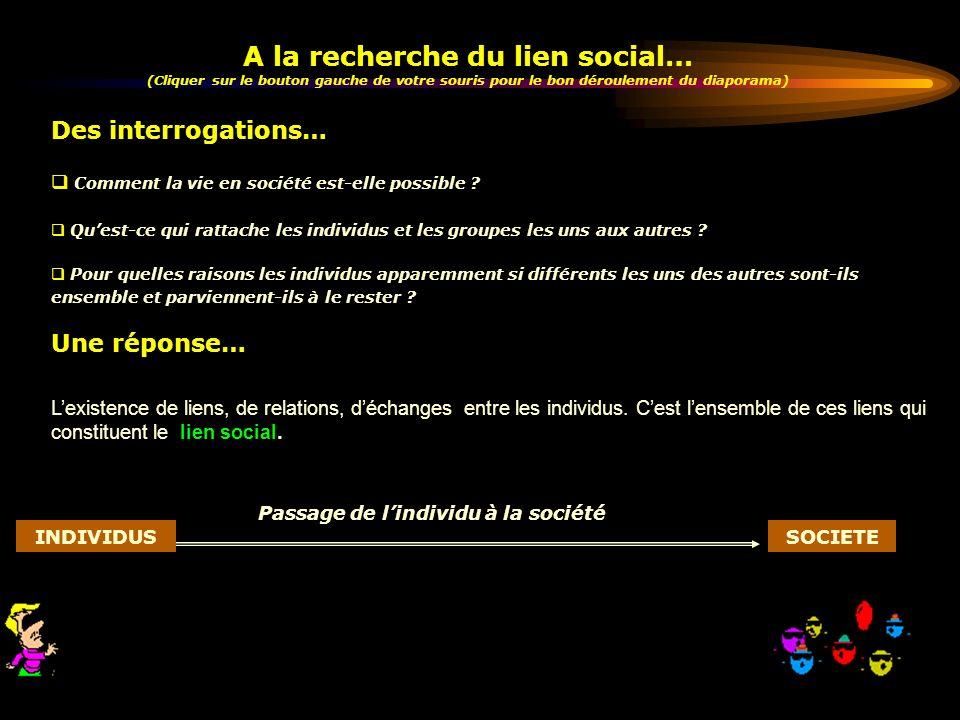 A la recherche du lien social…