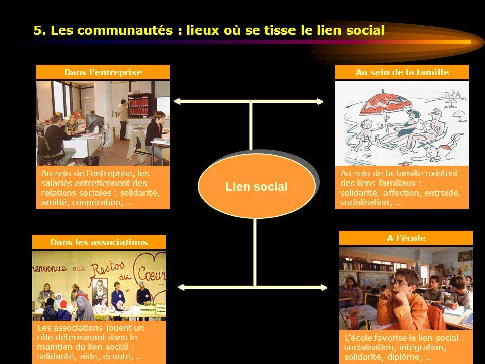 5. Les communautés : lieux où se tisse le lien social