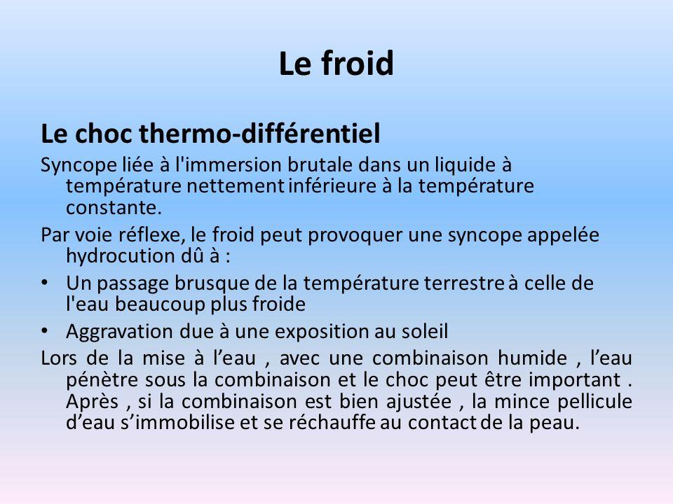 Le froid Le choc thermo-différentiel