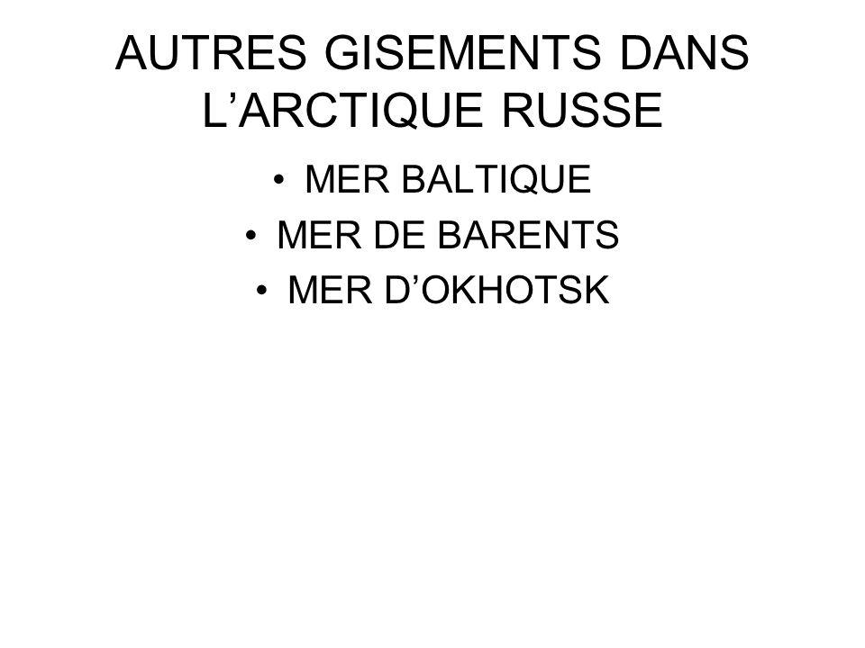 AUTRES GISEMENTS DANS L'ARCTIQUE RUSSE