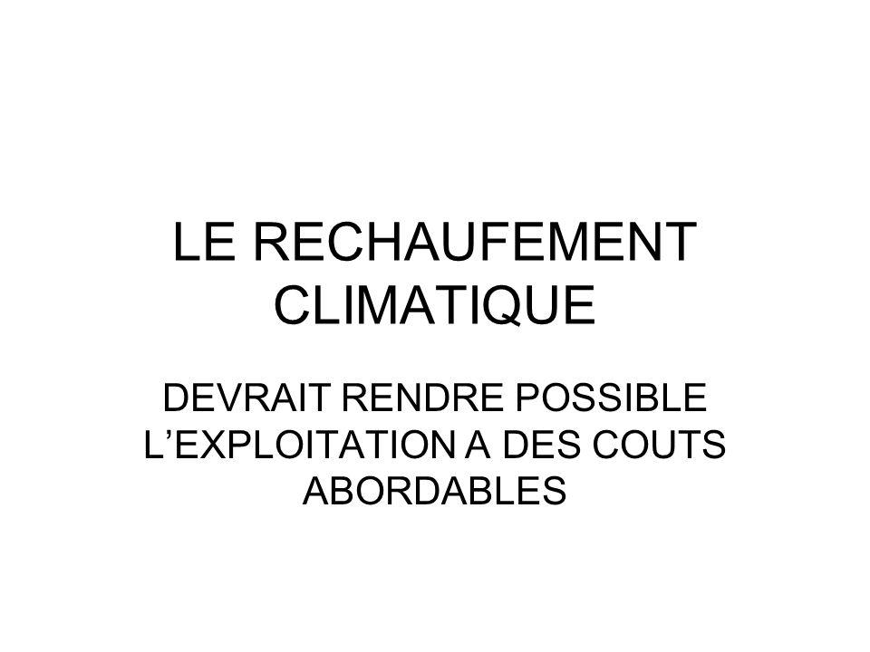 LE RECHAUFEMENT CLIMATIQUE