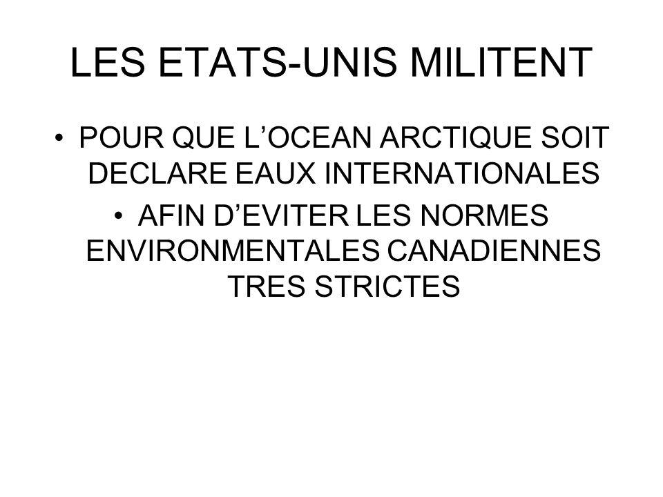 LES ETATS-UNIS MILITENT