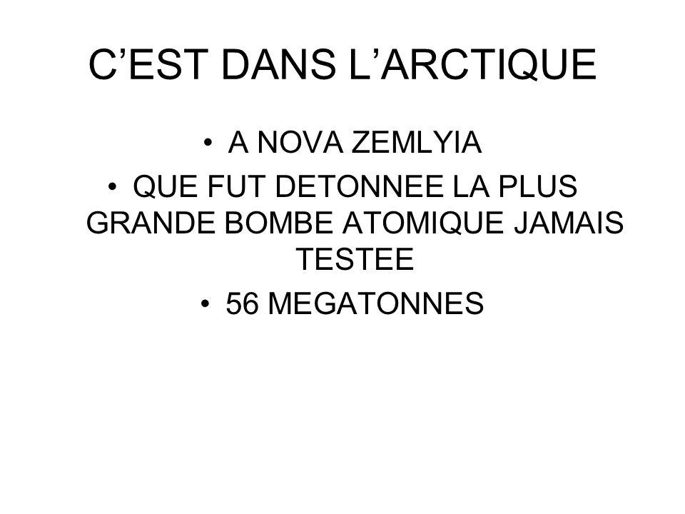QUE FUT DETONNEE LA PLUS GRANDE BOMBE ATOMIQUE JAMAIS TESTEE