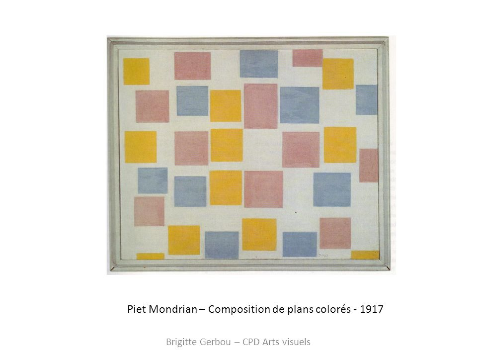 Piet Mondrian – Composition de plans colorés