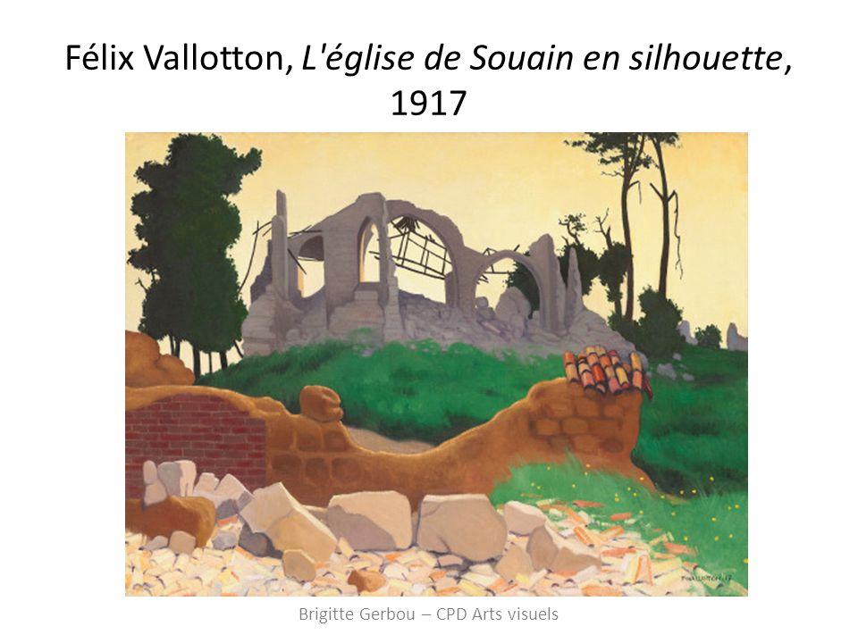 Félix Vallotton, L église de Souain en silhouette, 1917