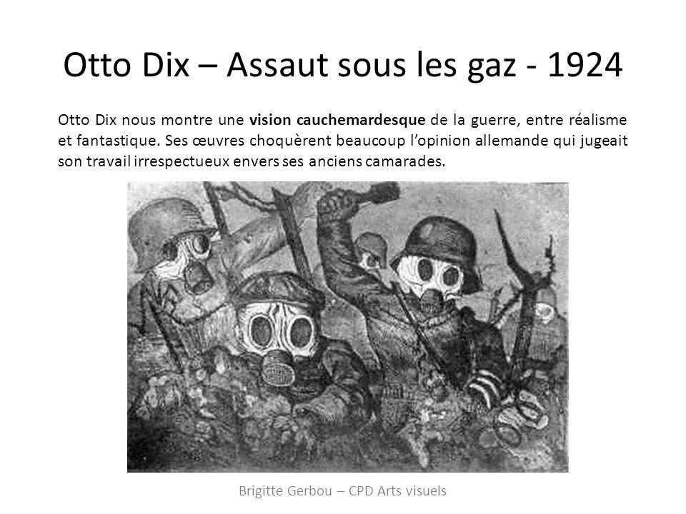 Otto Dix – Assaut sous les gaz - 1924