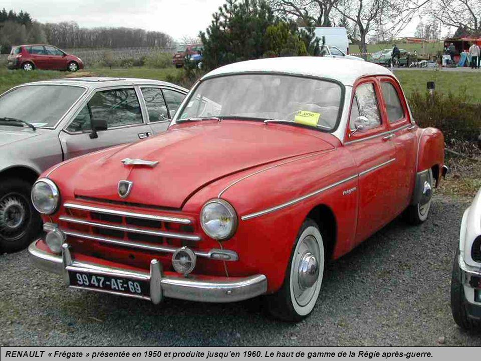 RENAULT « Frégate » présentée en 1950 et produite jusqu'en 1960