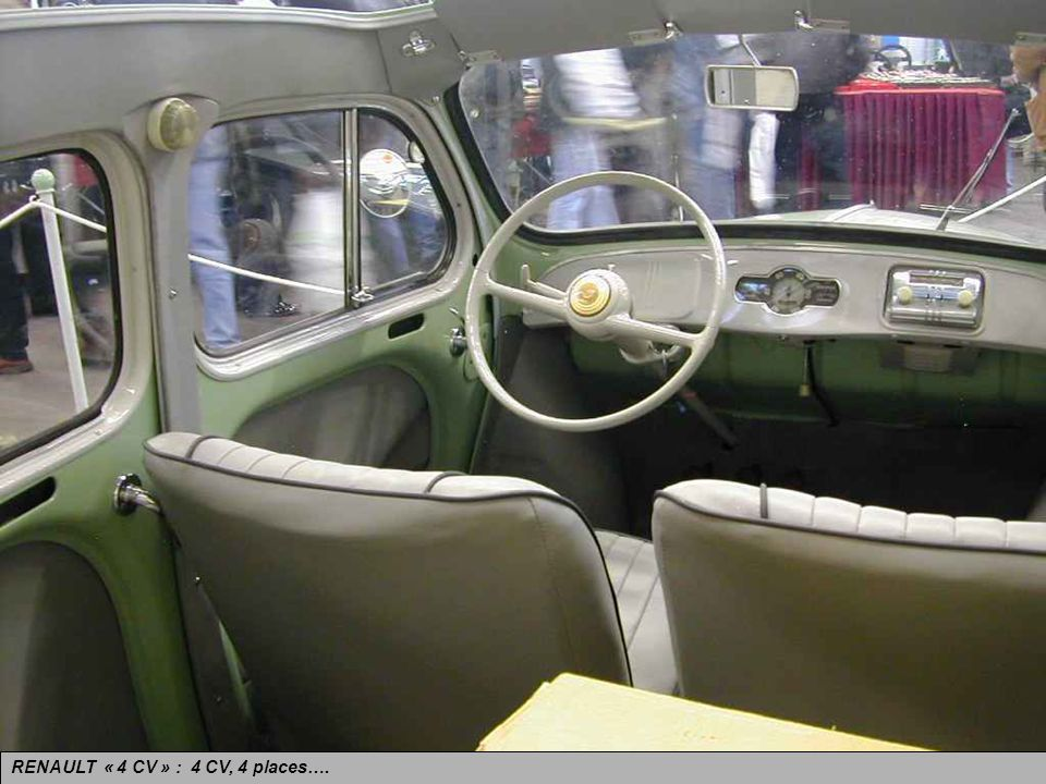 RENAULT « 4 CV » : 4 CV, 4 places….