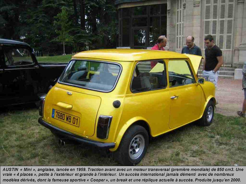 AUSTIN « Mini », anglaise, lancée en 1959