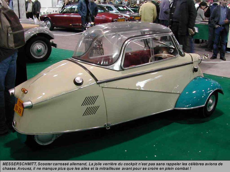 MESSERSCHMITT, Scooter carrossé allemand, La jolie verrière du cockpit n'est pas sans rappeler les célèbres avions de chasse.