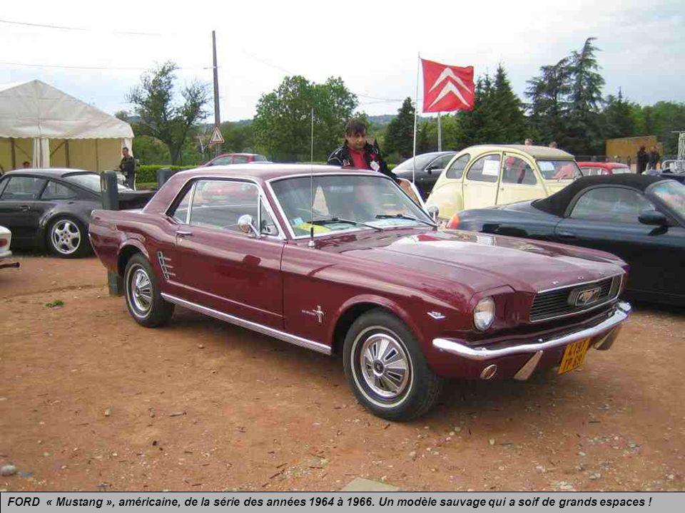 FORD « Mustang », américaine, de la série des années 1964 à 1966