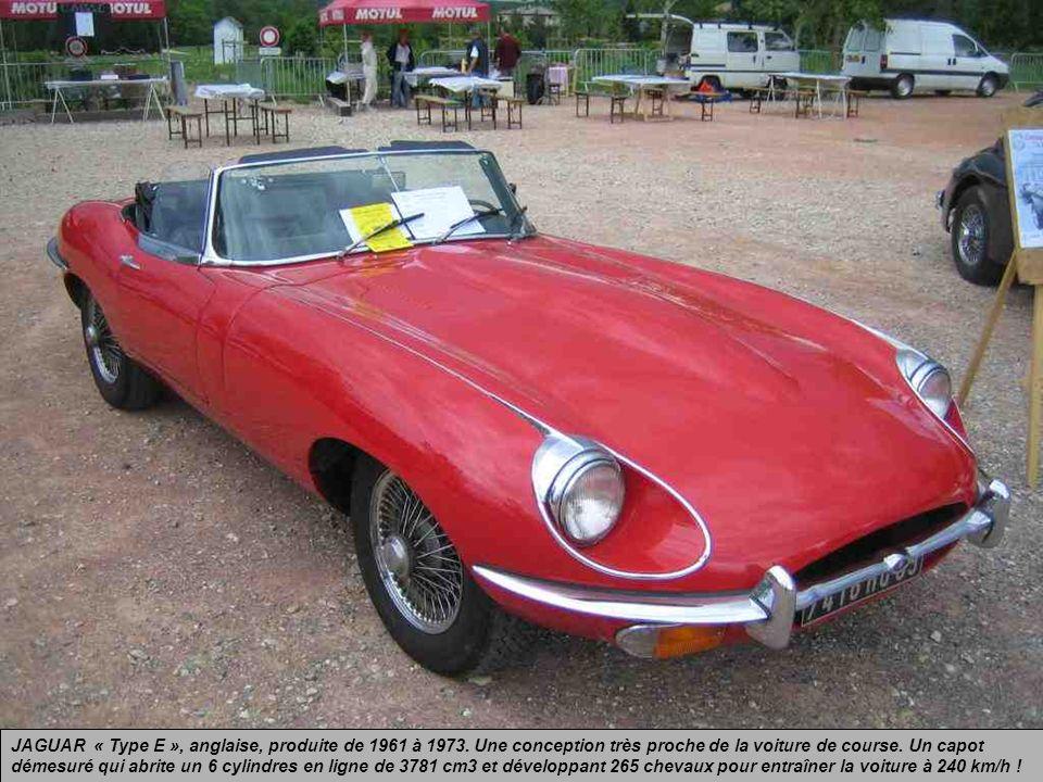 JAGUAR « Type E », anglaise, produite de 1961 à 1973