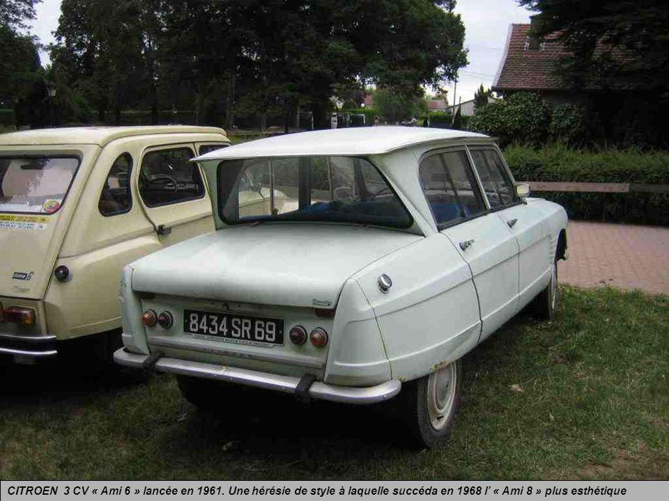 CITROEN 3 CV « Ami 6 » lancée en 1961