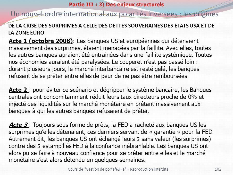 Partie III : 3) Des enjeux structurels