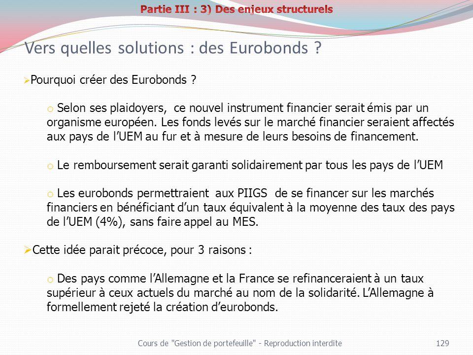 Vers quelles solutions : des Eurobonds
