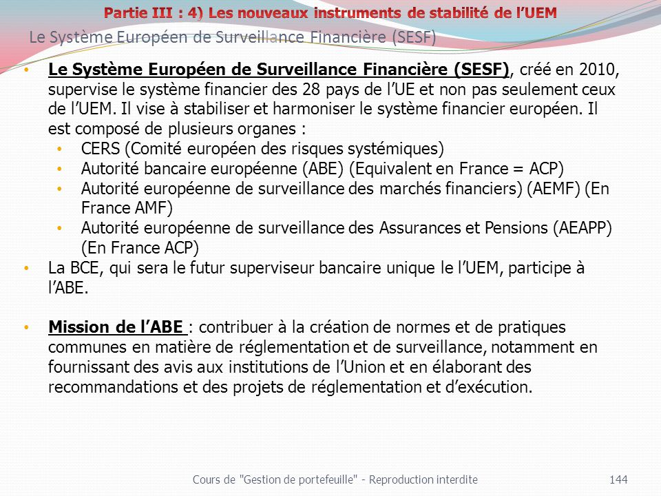 Partie III : 4) Les nouveaux instruments de stabilité de l'UEM