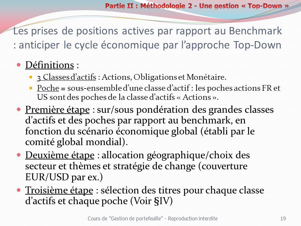 Partie II : Méthodologie 2 - Une gestion « Top-Down »