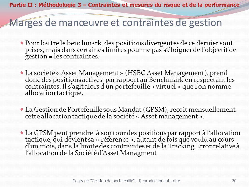 Marges de manœuvre et contraintes de gestion